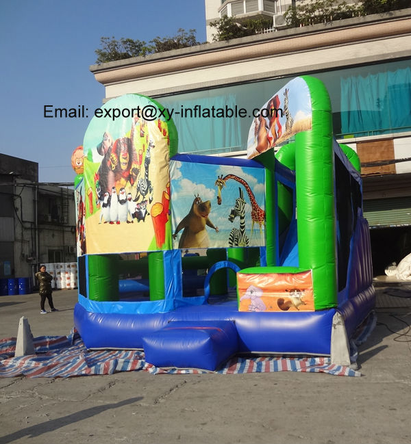 inflatable bouncer with slide bouncy castle commercial jumping castles sale