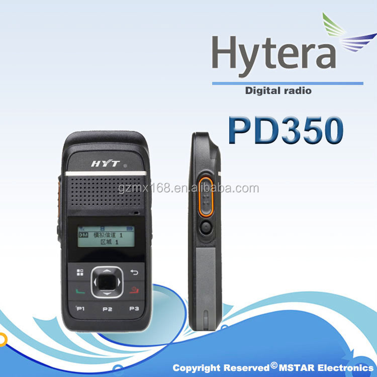 Hytera cheap digital walkie talkie PD350/TD350 with USB charger and dual mode