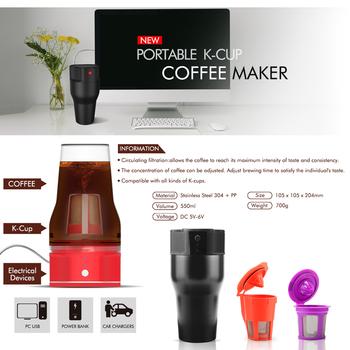 Unique K Cup Coffee Travel Mug Mini Keurig Single Serve Usb Coffee