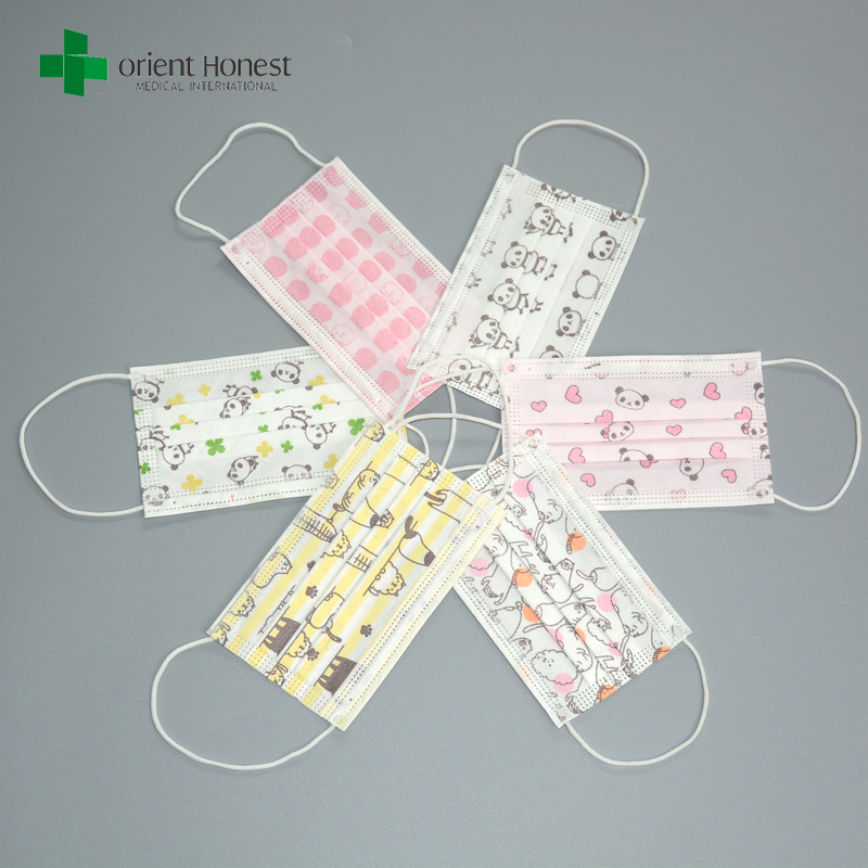 comfortable 3 ply pediatric face mask