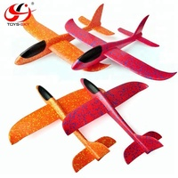 Wholesale price Hand throw airplane 3D model plane kids DIY Foam gliders for sale