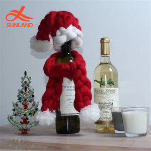 Knit Hat And Scarf Wine Bottle Topper 8a36a37a384