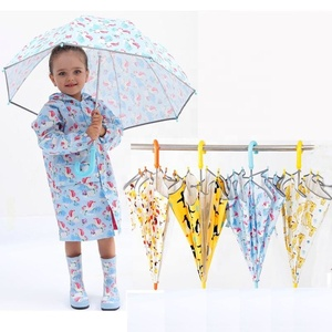 Chinese Wholesale Umbrella Parasol Children Cartoon Umbrella Colorful Cute Animal Pattern Print Rain Kid Umbrella For Child