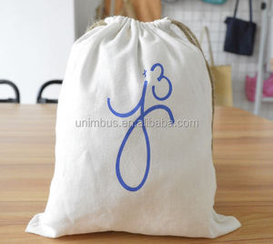 High Quality Flannel Drawstring Bag/Brushed Cotton Dust Bag