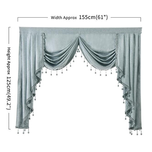 Napearl 1 Piece Solid Valance Curtains European Style Elegant Home