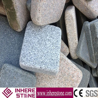 Chinese cheap white granite G603 (Sesame White) tumbled surface for sale, own block