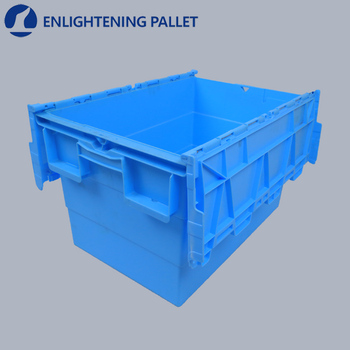 80 Litre Heavy Duty Attached Lid Container Lidded Plastic Storage Box