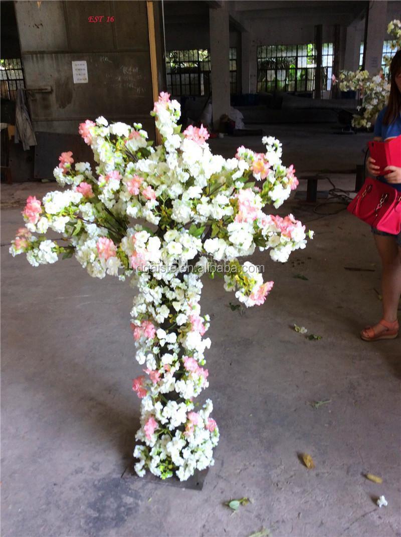 테이블 중심 꽃 배경 인공 미니 작은 벚꽃 꽃 나무 웨딩 장식 ...