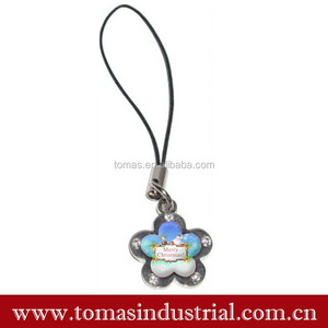 Wholesale price charm for X'mas gift \promotional charm santa ornament hanging ornament gift\cellphone charm