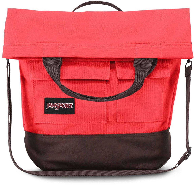 "JanSport Broderick 13"" Laptop Messenger Bag - Coral Dusk / 16.7""H x 14.6""W x 5.5""D"
