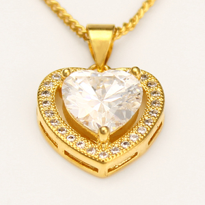 Cheap Jewelry 18k Gold Heart Pendant