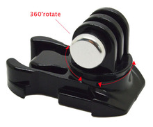 Go pro accessories 360 Degree Rotate Buckle Base Vertical Surface Mount Adapter for GoPro Hero 4 3+2 1 sj4000 sj5000 GP203