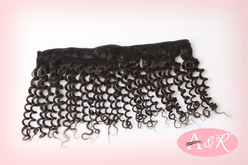 A&R Hair products Deep wave curly Brazilian hair Deep weaves 3pcs/lot cheap human Brazilian hair Free shipping