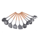 copper 5 piece modern cooking tools household kitchen set kitchenware utensils sets