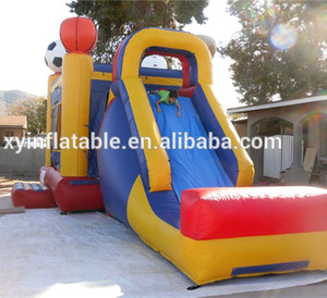 2016 allin one inflatable sports game slide for kids