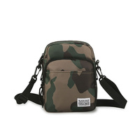 Custom logo camouflage 600D Oxford crossbody mini shoulder bag small messenger bag for men
