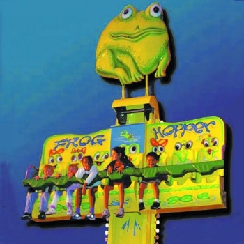 Very attractive to kids popular theme park equipment children rides jumping frog hopper mini skying drop for sale