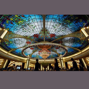 luxury tiffany style decorative stained glass dome for ceiling