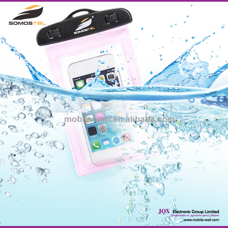 [Somostel] High sealed,HD picture under water 10M waterproof phone case, Promotional PVC Waterproof Bag