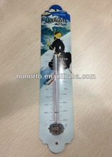 European room wall hanging metal thermometer