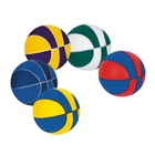 "Eco-friendly [ Ball ] Basketball Stress Ball Colorful PU Stress Basketball Squeeze Foam 7"" Anti Stress Ball"
