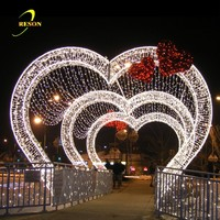 LED illuminated wedding lights decoration heart shaped arches