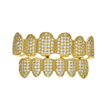 BOAKO Bling золотые зубы дентальные украшения для мужчин Grillz хип-хоп зубные решетки кепки Rapper зубы комплект декоративных коронок раппер человек ...(Китай)