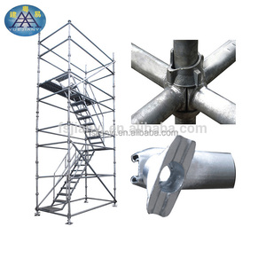 Alibaba High Grade Galvanized Q345 Carbon Used Construction Cuplock Scaffolding System