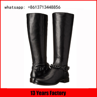 china factory winter shoes women italian leather knee boot