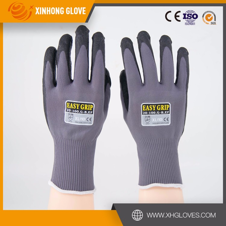 Finger Dipping Carbon Liner Electrical Safety Gloves