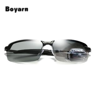 2017 New Discolored Polarized Men's Anti-UV Sunglasses for Drivers Male Driving Photochromic UV400 Sunglasses