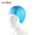 Custom logo adult/kid silicone swim cap, Ear protection swim cap for swimming