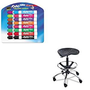 KITSAF6660BLSAN81045 - Value Kit - Safco Sit-Star Stool with Footring amp;amp; Caster (SAF6660BL) and Expo Low Odor Dry Erase Markers (SAN81045)