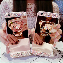 2017 High quality Glitter Rhinestone Diamond Bling mirror phone case crystal stone mobile cover for iPhone7