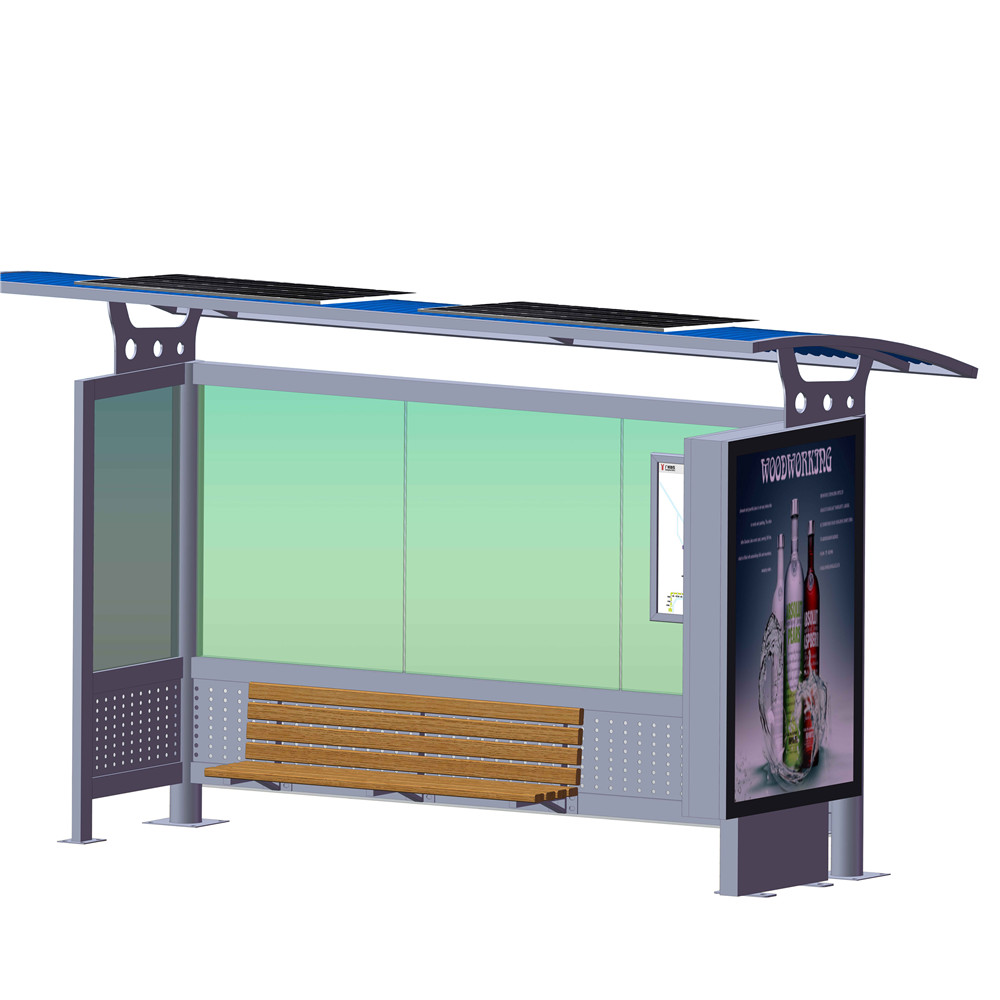 product-Street furniture bus shelter materials smart bus stop-YEROO-img-2
