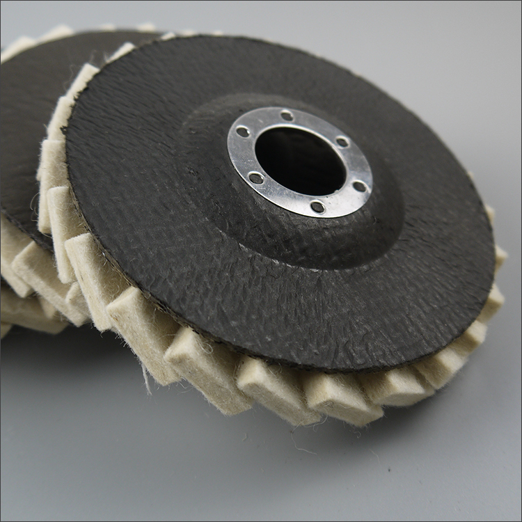 Abrasive tools polishing wheels 100% natural wool felt flap disc for polishing metal glass felt wheel made in China