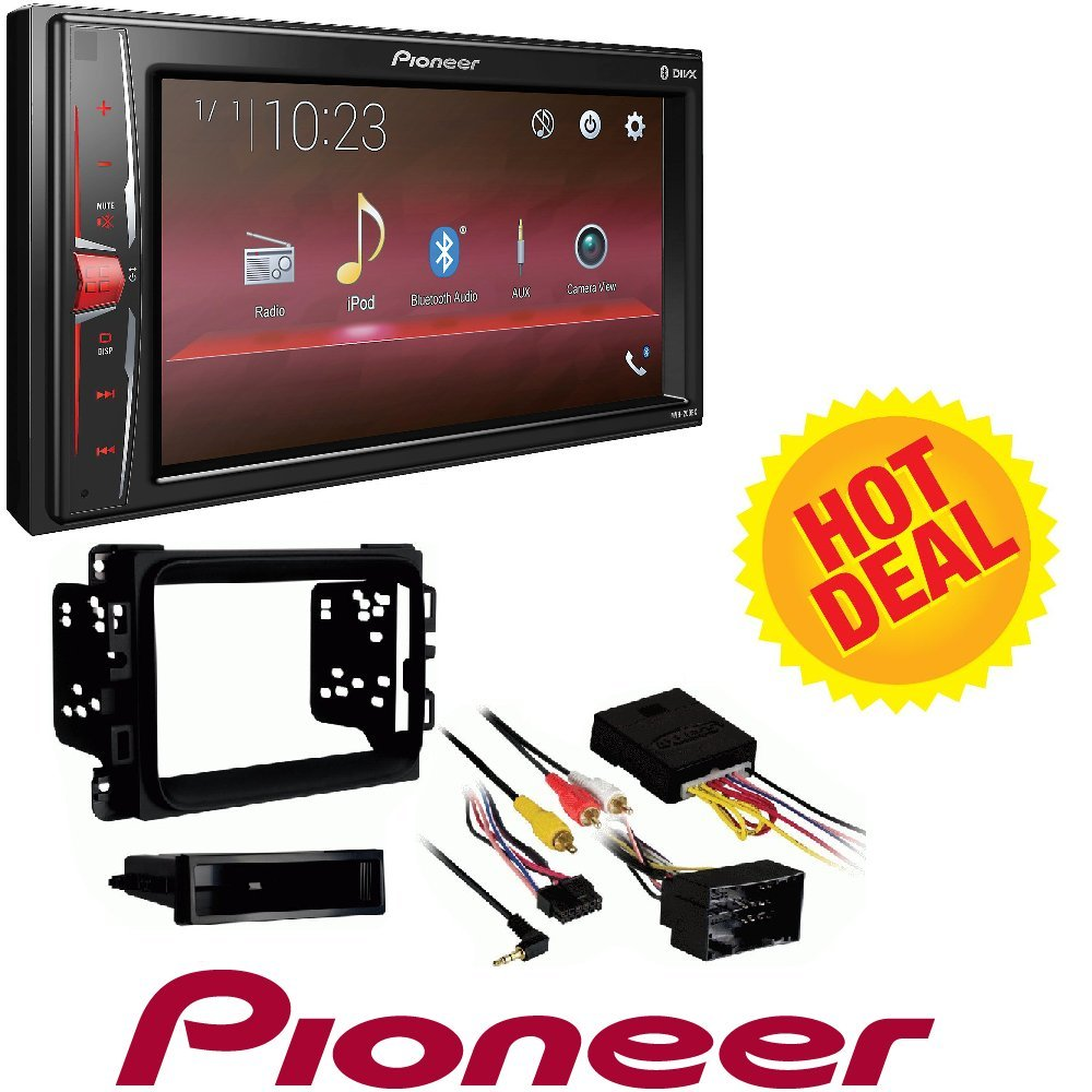 """Pioneer Digital Multimedia Video Receiver with 6.2"""" WVGA Display, and Built-in Bluetooth (Does NOT Play CDs) 2013 - 2017 RAM DOUBLE DIN CAR STEREO INSTALLATION DASH KIT"""