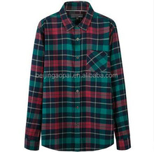 Herfst Mode Tops Katoen Lange Mouwen Casual Losse Gecontroleerd Plaid Flanel <span class=keywords><strong>Dames</strong></span> <span class=keywords><strong>Blouse</strong></span>