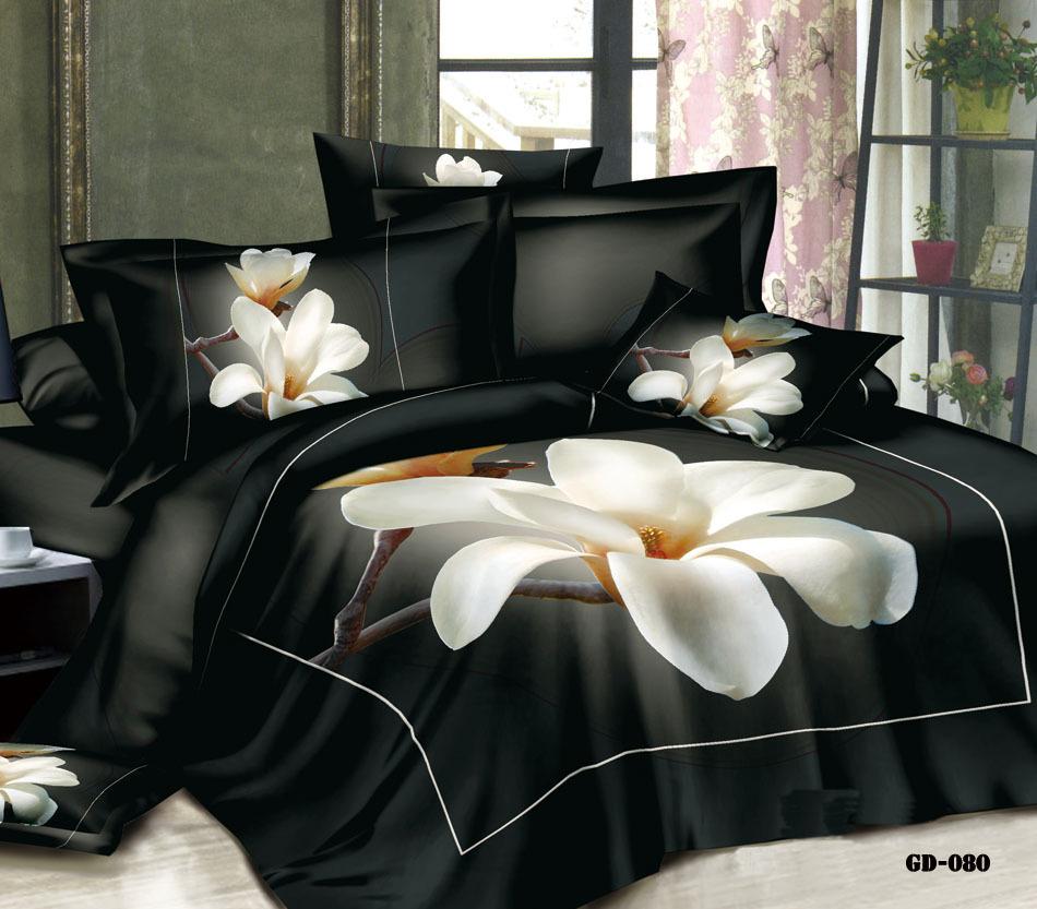 3d Magnolia Floral Flower Bedding Set California King