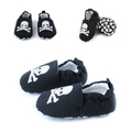 1pair New 2015 Baby Boy Shoes Skid proof First Walkers Black Square Boys Spring autumn baby