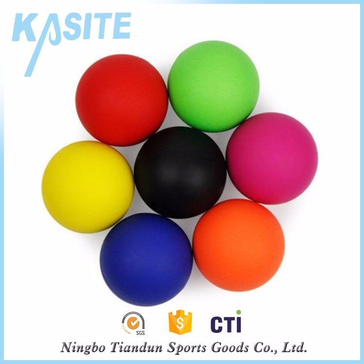 High rubber bouncing lacrosse massage ball, lacrosse ball