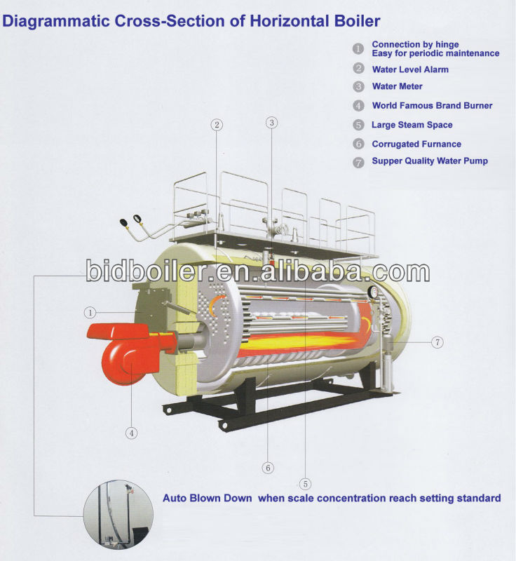 Wns series hydrogen steam furance