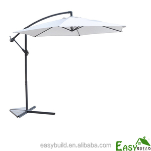 2.7m offset banana hanging outdoor garden umbrella (8panels*48mm pole)