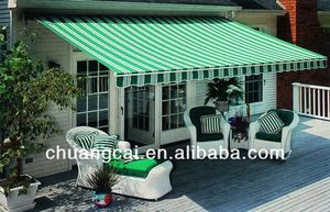 steel or aluminum alloy canvas fabric stripe awning