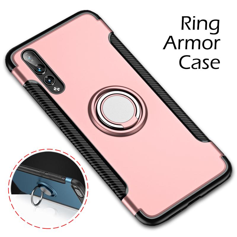 TPU PC Hybrid Armor Case for Huawei Nova 3i Cool Fashion Ring Armor Kickstand Shell