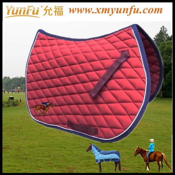 Polycotton Lining and Cotton Outshell make english saddle pad