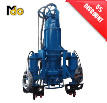 315kw electric High Flow 4 inch Submersible sand slurry dredge river water non gravel sewage pump with agitator for mining