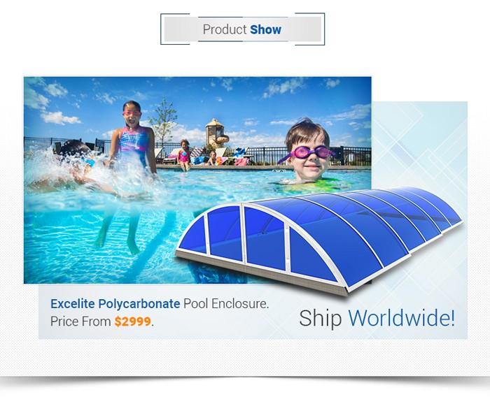 High Retractable Swimming Pool Cover/ Safety Pool Covers Roof