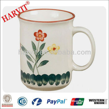 Wholesale 99 Cent Store Items Clay Stoneware Hand Painted Mug