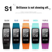 2018 new smart bracelet bluetooth S1 smart watch band with heart rate monitor gps smart band sport fitness watch smart bracelet